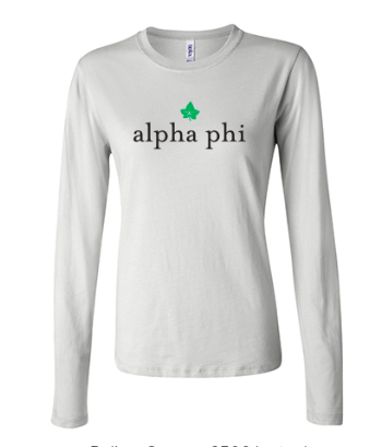 ALPHA PHI IVY- Bella + Canvas Ladies' Long Sleeve