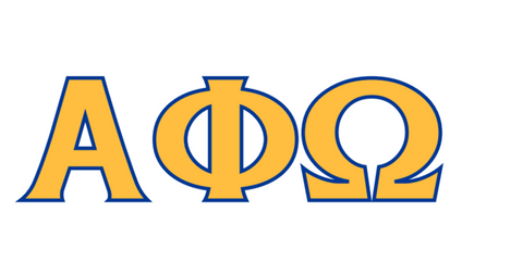 alpha phi omega letters alpha phi omega college hill custom threads 1307
