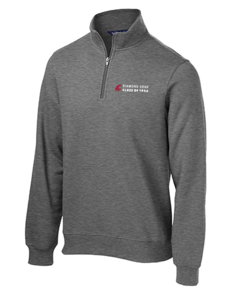 Washington State University Alumni Association Class of 1956 Reunion Apparel 2016 DIAMOND GRAD 1/4 Zip