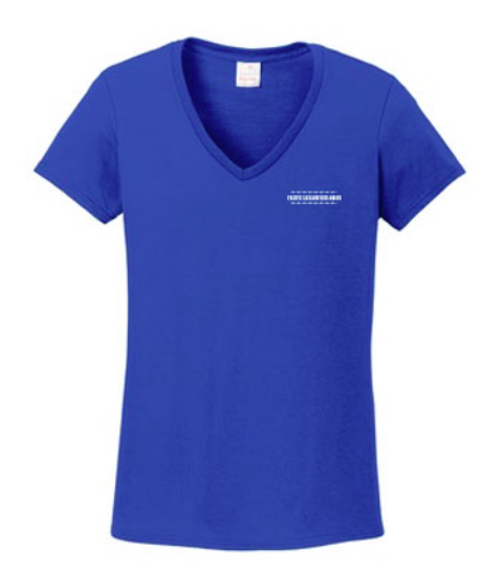 Pacific Cascade Farms LLC Ladies V-Neck in Royal