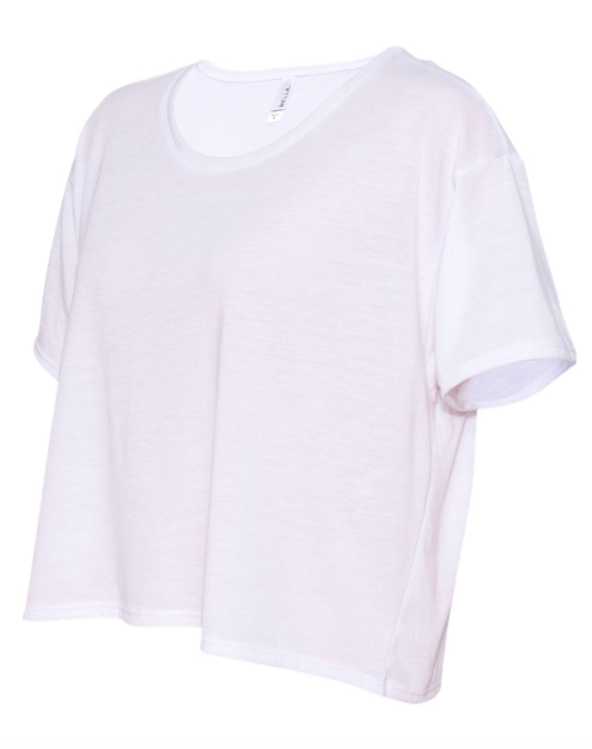 Bella + Canvas Flowy Boxy Crop Tee