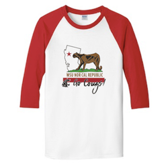 Washington State AA NorCal September 2017 Baseball Tee in White/Red