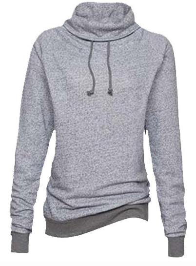 Enza Ladies Mock Twist Funnel Neck Pullover