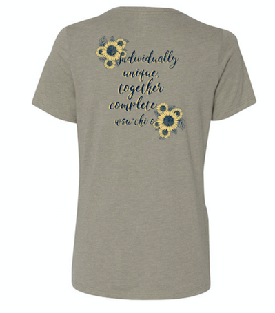 WASHINGTON STATE UNIVERSITY CHI OMEGA MOM'S WEEKEND 2018 - RELAXED TEE (STONE OR NAVY) (sample)