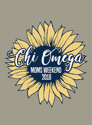 WASHINGTON STATE UNIVERSITY CHI OMEGA MOM'S WEEKEND 2018 - BASEBALL TEE (sample)