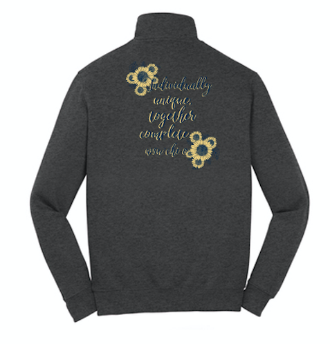 WASHINGTON STATE UNIVERSITY CHI OMEGA MOM'S WEEKEND 2018 - QUARTER ZIP SWEATSHIRT (sample)