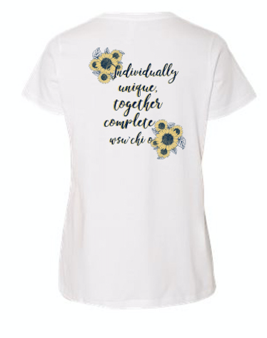 WASHINGTON STATE UNIVERSITY CHI OMEGA MOM'S WEEKEND 2018 - LADIES TEE (sample)