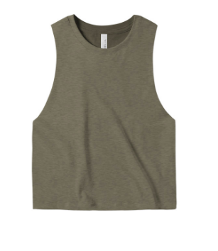 Bella + Canvas Ladies' Racerback Cropped Tank