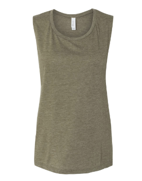 Bella + Canvas Ladies' Flowy Scoop Muscle Tank