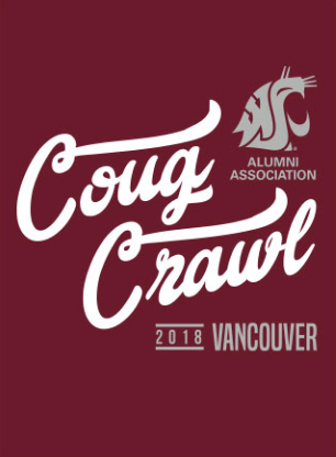 Washington State Alumni Association Southwest Washington Crawl 2018 - Ladies Tee (Crimson)