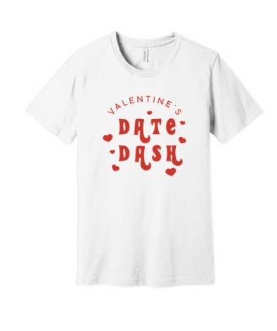 Washington State University Alpha Omicron Pi Valentine's Day Date Dash 2019 - Tee (2 Colors)