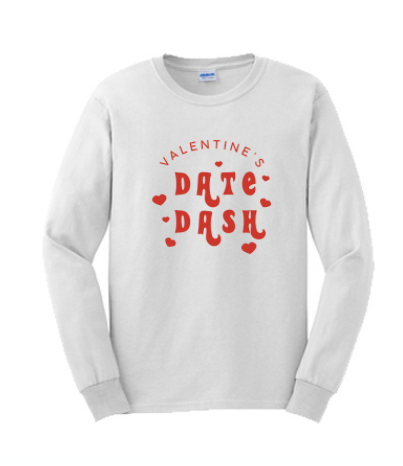 Washington State University Alpha Omicron Pi Valentine's Day Date Dash 2019 - Long Sleeve Tee (2 Colors)