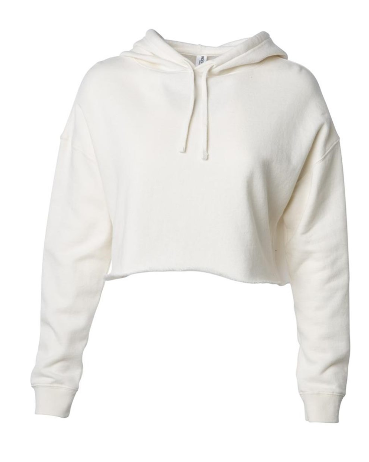 Independent Trading Co. Women's Lightweight Cropped Hooded Sweatshirt