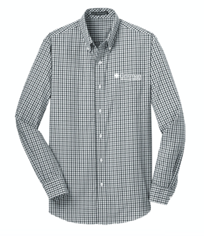 Gritman Medical Apparel Showcase - Long Sleeve Gingham Easy Care Shirt