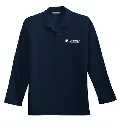 Gritman Medical Apparel Showcase - Ladies Long Sleeve Polo