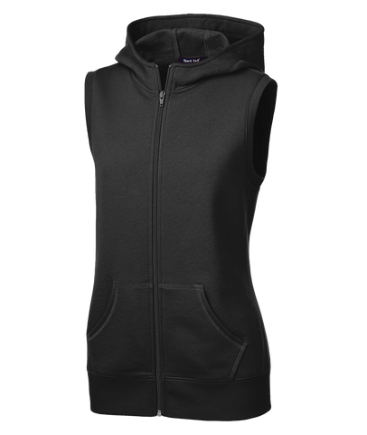 Sport-Tek Ladies Hooded Fleece Vest