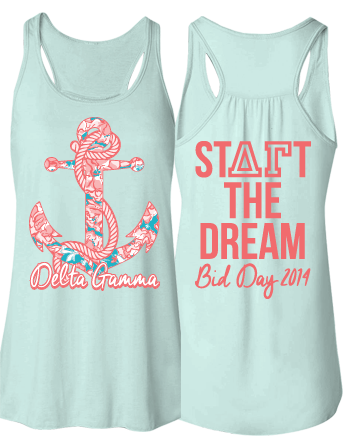 Delta Gamma Lilly Anchor Dream