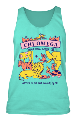 Chi Omega Bid Day Tanks 2014