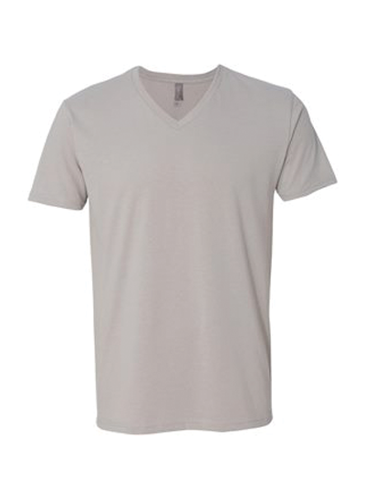 Next Level Premium Fitted Sueded V-Neck T-Shirt