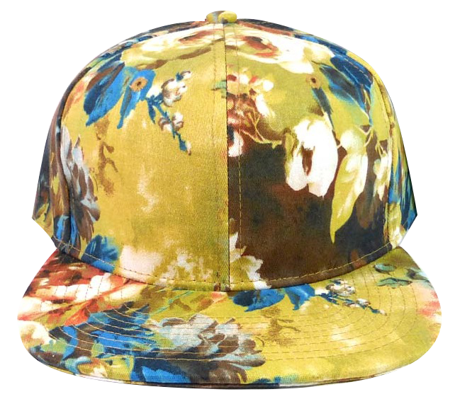 Wildflower Watercolor Floral Snapback