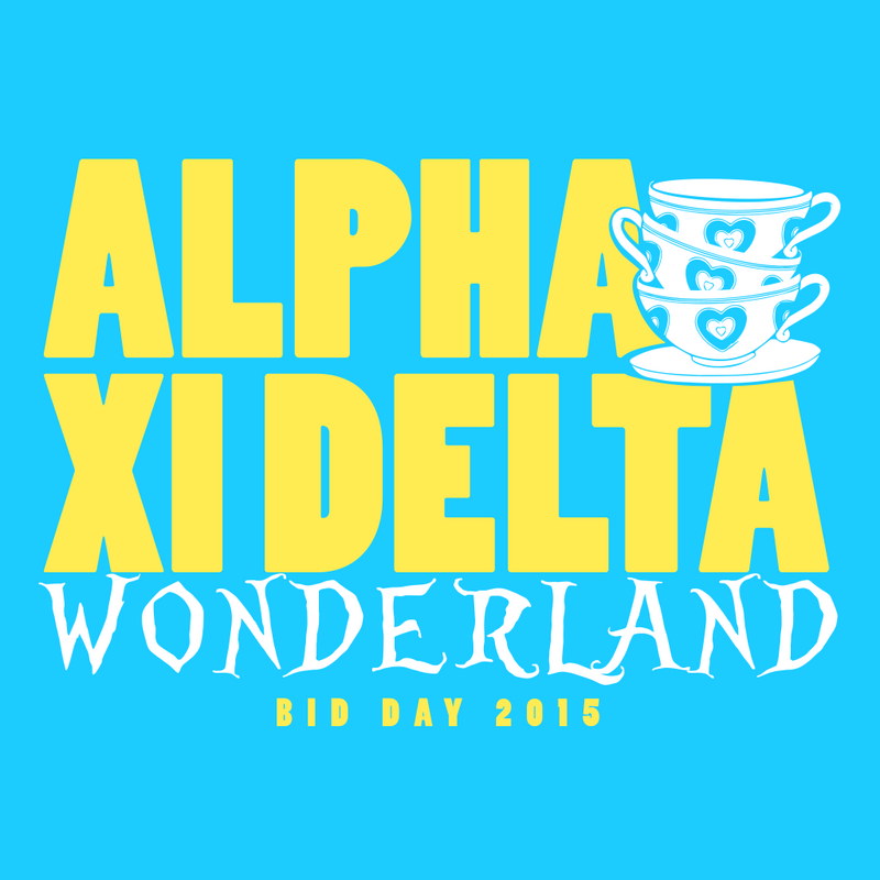 Alpha Xi Delta Wonderland Bid Day