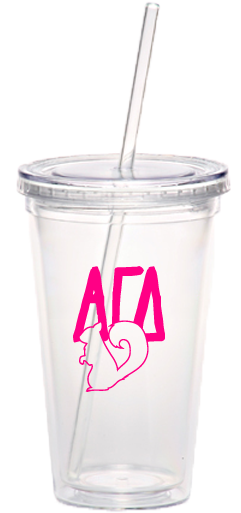 Alpha Gamma Delta Squirrel Tumbler