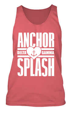 Delta Gamma Heart Anchor Splash