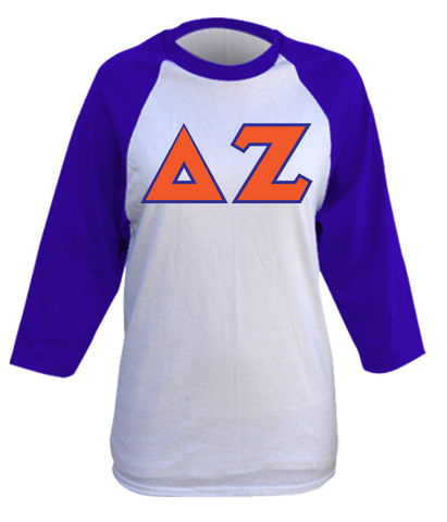 Delta Zeta Baseball Raglan Tackle Twill
