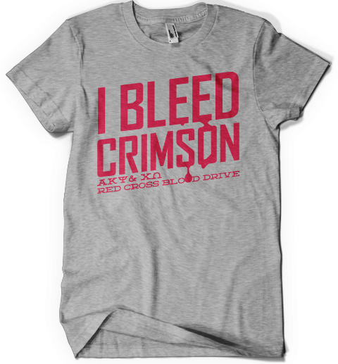 Alpha Kappa Psi Chi Omega Bleed Crimson