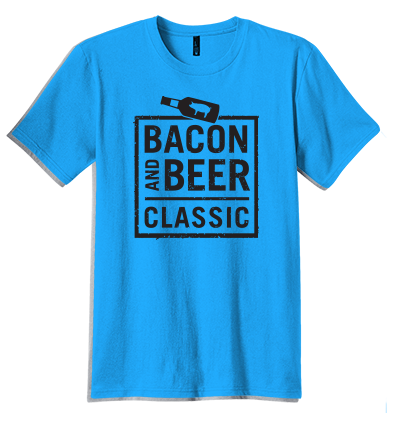 Bacon & Beer Classic 2014 Blue Shirt