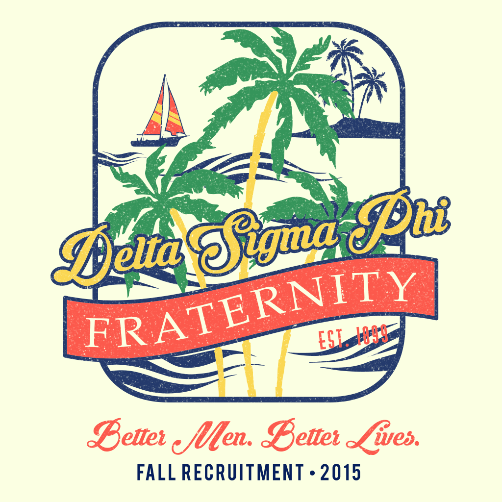 Delta Sigma Phi Tropical Retro Rush
