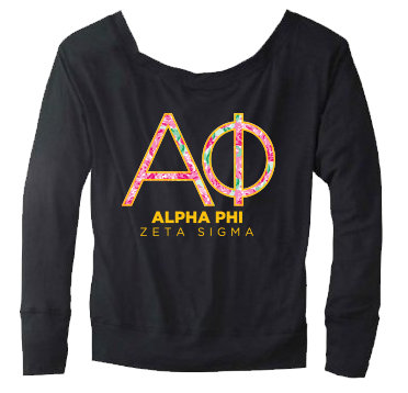Alpha Phi Rose Floral Sweater