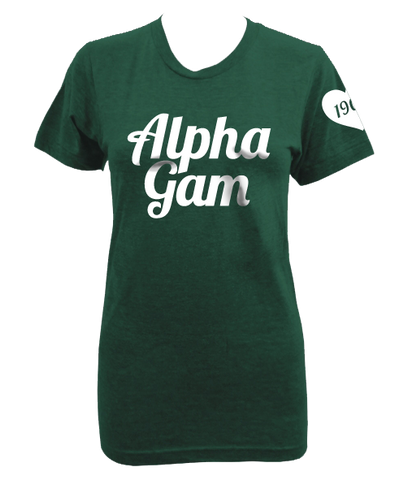 Alpha Gamma Delta Heart Sleeve