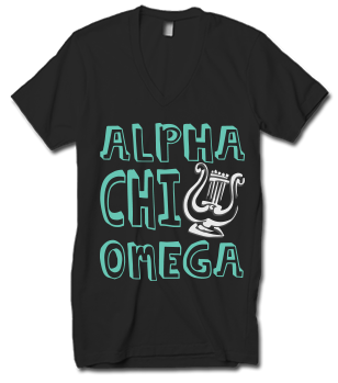Alpha Chi Omega Cartoon Lyre