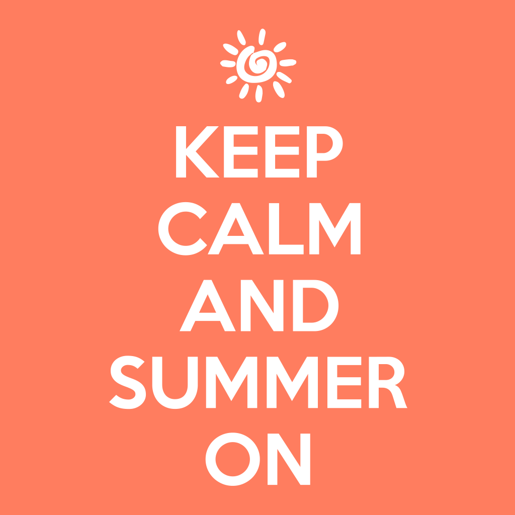 Keep Calm and Summer On shirt design