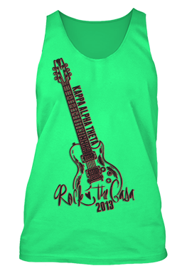 Kappa Alpha Theta Neon Guitar Rock the Casa