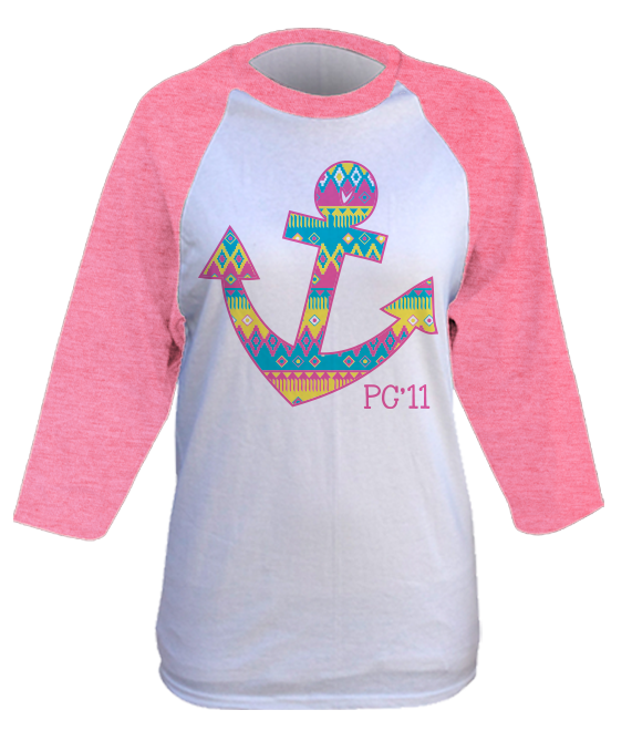 Neon Tribal Anchor Raglan