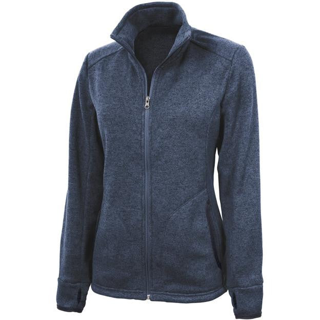 Charles River Apparel 5493 Women's Heathered Fleece Jacket  (Available in 3 Colors)