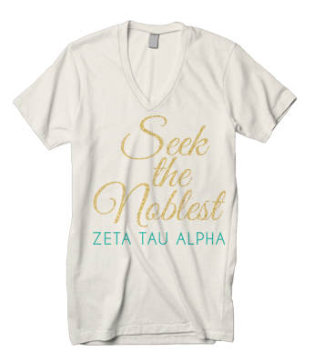 Zeta Tau Alpha Seek the Noblest Recruitment