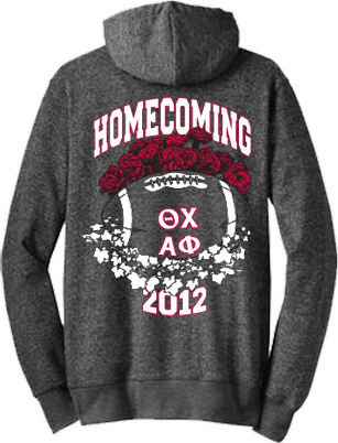 Theta Chi and Alpha Phi Homecoming Hoodies
