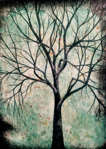 acrylic on canvas - tree by Amanda Jean