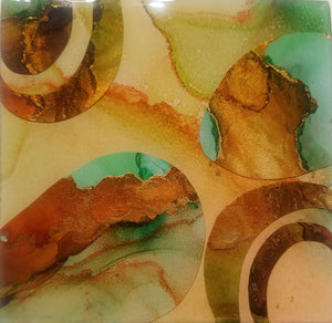 Abstract II - alcohol ink painting by Cindy Brinkman