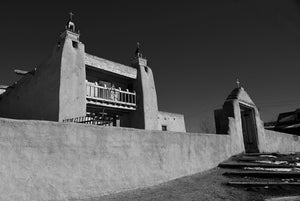 Las Trampas Church - photograph by Dennis Nejtek