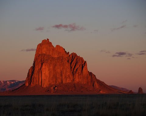 Shiprock Dawn - photo on canvas by Dennis Nejtek