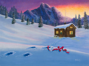 Early Christmas Morn - acrylic painting by Jack Malloch