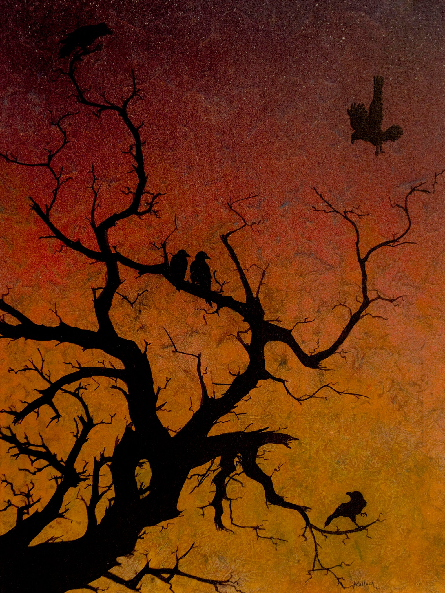 Raven's Roost acrylic painting by Jack Malloch
