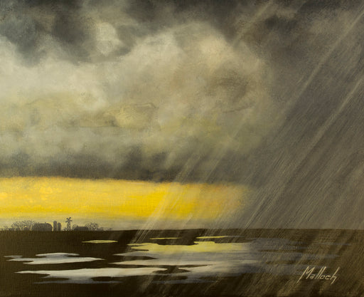 Winter Rain -- acrylic painting by Jack Malloch