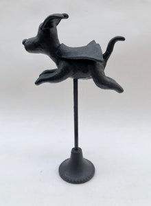 Superdog 2 -mixed media sculpture by Judith Marie