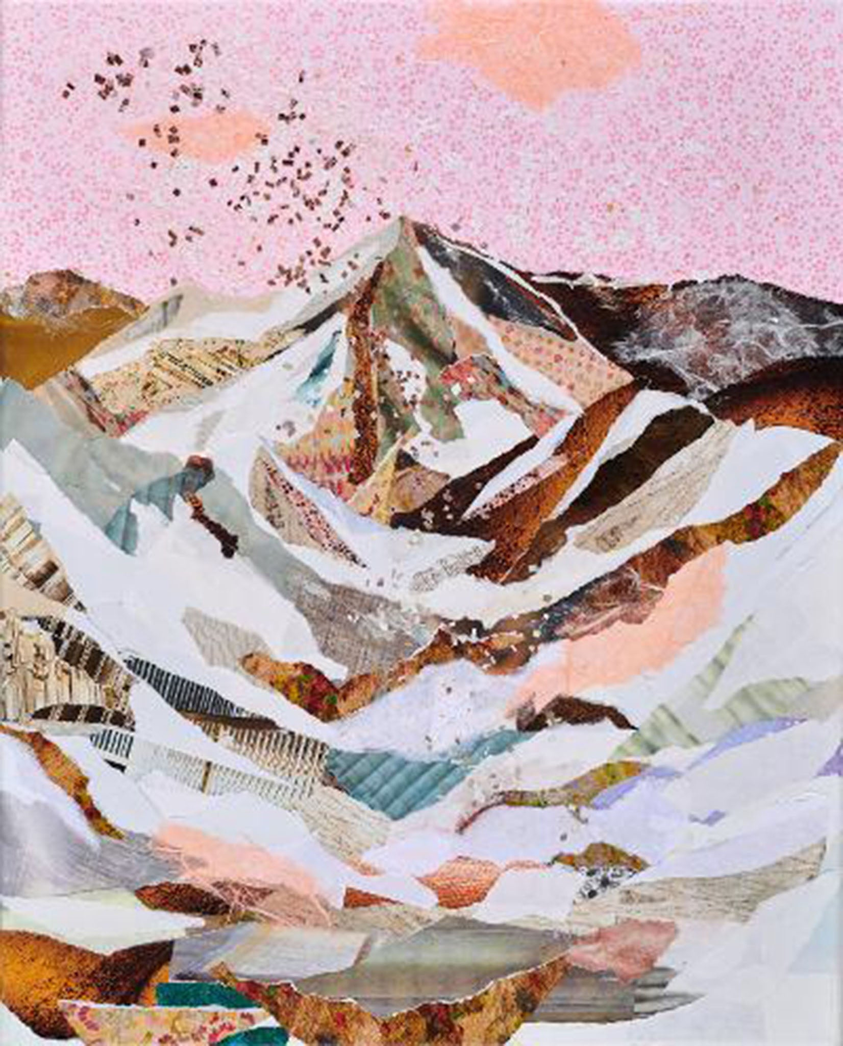 Soft LIght - torn paper on canvas by Laura Weston