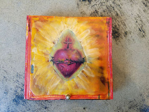 top view of encaustic box by Lori DiPasquale.